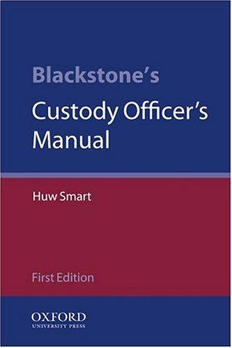 Download Blackstone's custody officer's manual