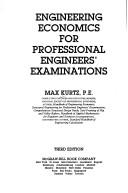 Engineering economics for professional engineers' examinations