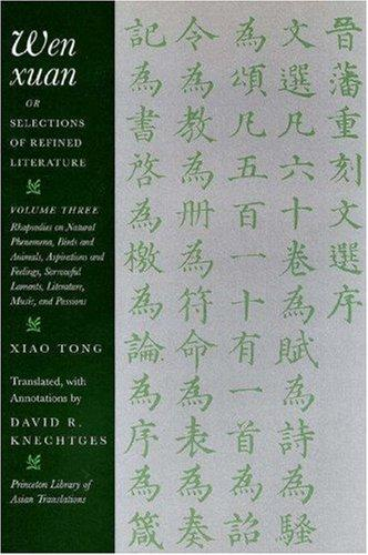 Download Wen xuan or Selections of Refined Literature