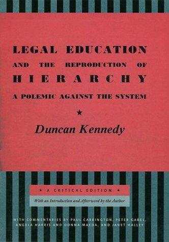 Download Legal Education and the Reproduction of Hierarchy