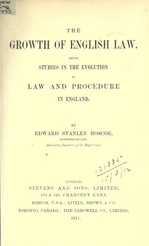Download The growth of English law