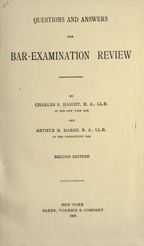 Download Questions and answers for bar-examination review