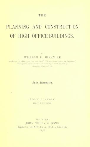 The planning and construction of high office-buildings.