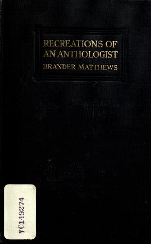 Download Recreations of an anthologist