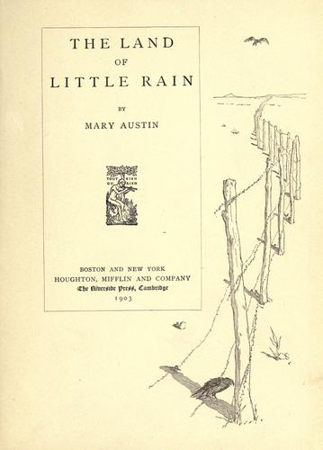 Download The  land of little rain