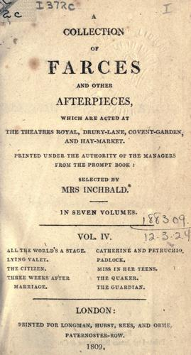 Download A collection of farces and other afterpieces