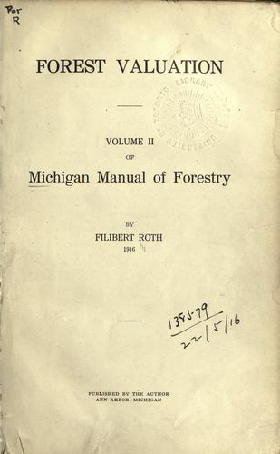 Download Michigan manual of forestry.