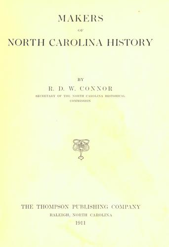 Makers of North Carolina history