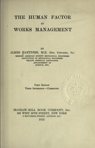 Download The human factor in works management