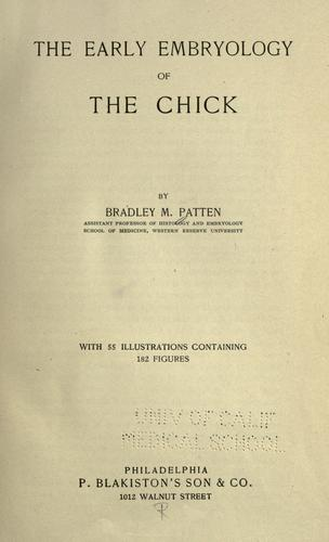 Download The early embryology of the chick