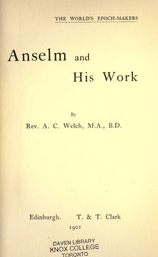 Download Anselm and his work.