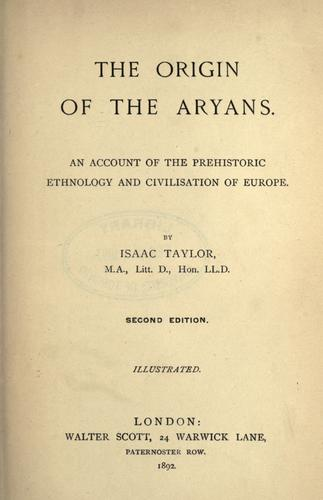 The origin of the Aryans