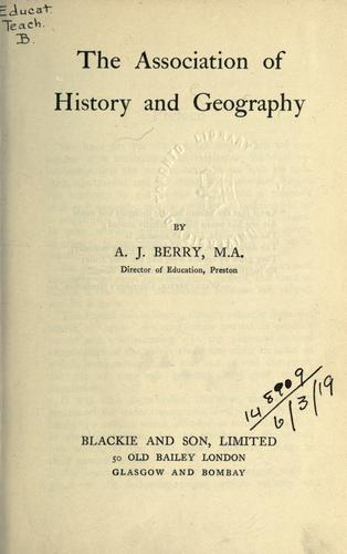 The association of history and geography.