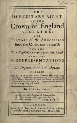 Download The present constitution, and the Protestant succession vindicated