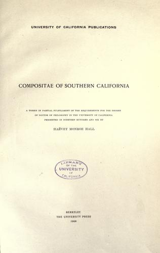 Download Compositae of southern California