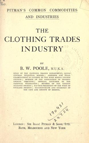 Download The clothing trades industry.
