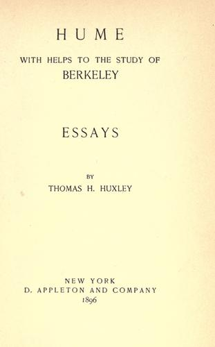 Download Hume, with Helps to the study of Berkeley