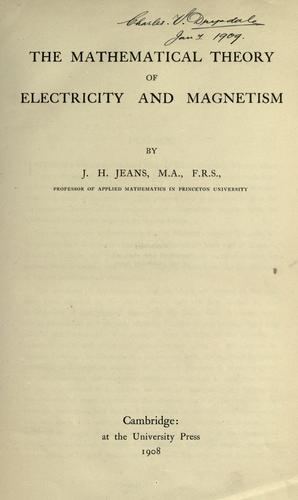 Download The mathematical theory of electricity and magnetism
