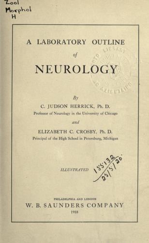 Download A laboratory outline of neurology.