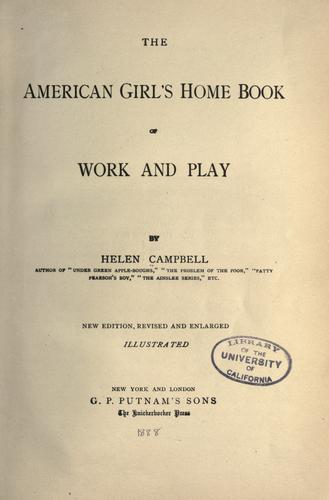 Download The American girl's home book of work and play