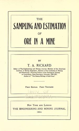 Download The sampling and estimation of ore in a mine