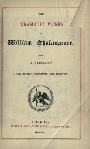 Download The dramatic works of William Shakespeare