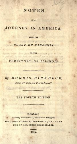 Download Notes on a journey in America from the coast of Virginia to the Territory of Illinois