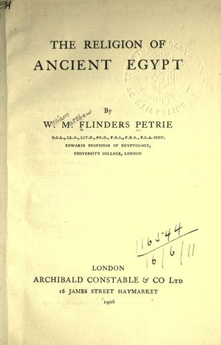 The religion of Ancient Egypt.
