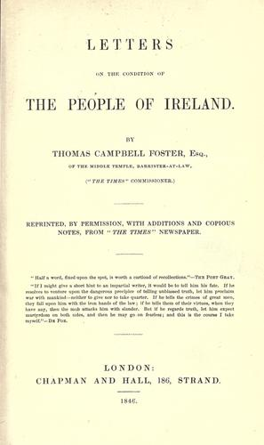 Download Letters on the condition of the people of Ireland