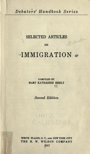 Download Selected articles on immigration