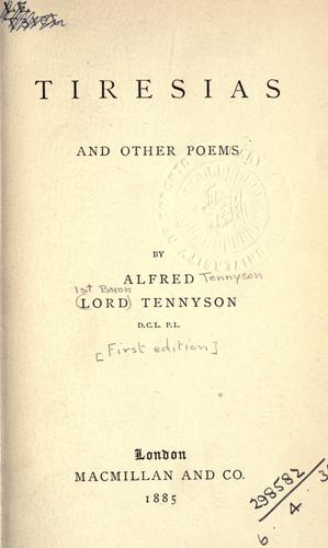 Download Tiresias, and other poems.