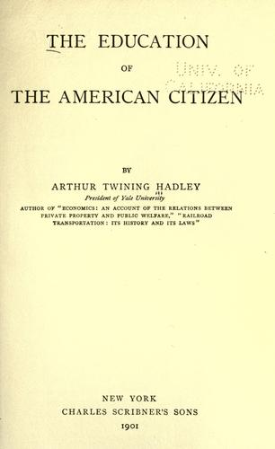 The education of the American citizen