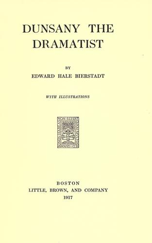 Download Dunsany the dramatist