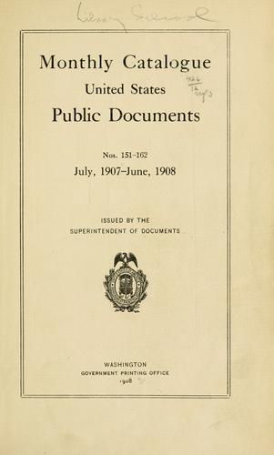 Monthly catalog of United States Government publications.