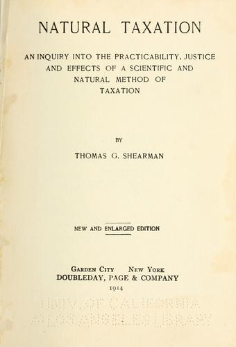 Download Natural taxation