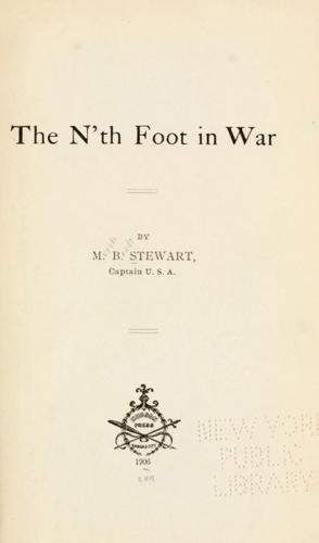 Download The n'th foot in war