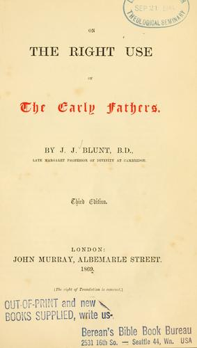 Download On the right use of the early Fathers