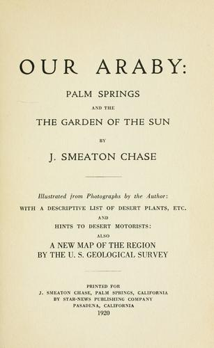 Our Araby by J. Smeaton Chase
