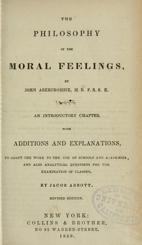 Download The philosophy of the moral feelings