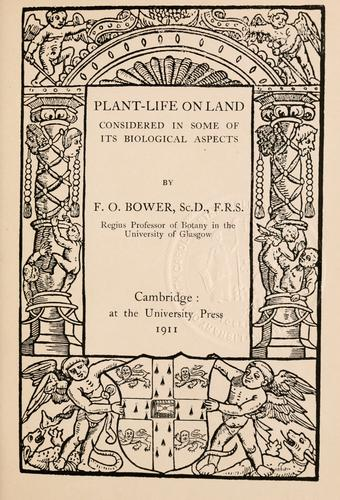 Download Plant-life on land considered in some of its biological aspects