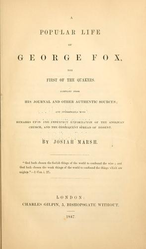 Download A popular life of George Fox