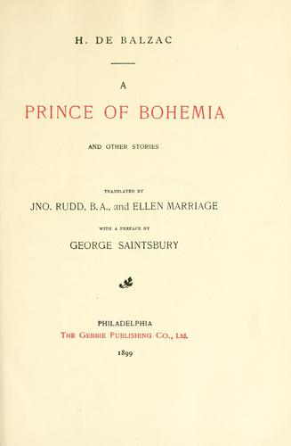 A Prince of Bohemia and other stories