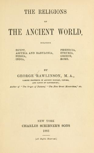 Download The religions of the ancient world