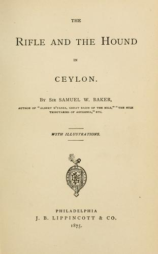 Download The rifle and the hound in Ceylon