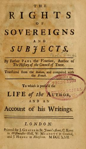 Download The Rights of sovereigns and subjects