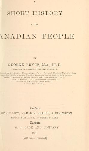 Download A short history of the Canadian people