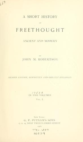 A short history of freethought