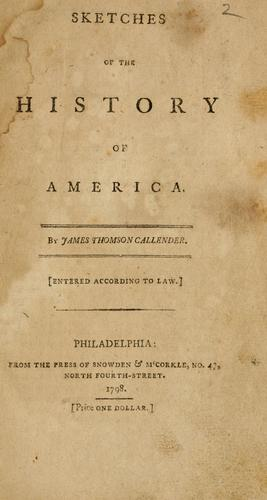 Sketches of the history of America.