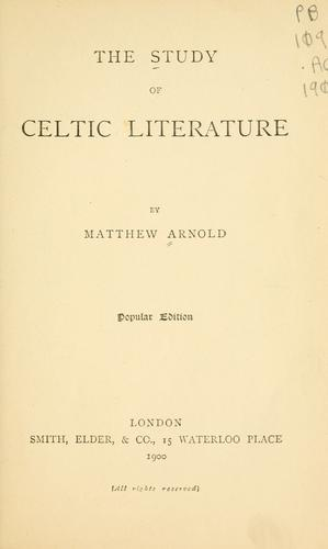 Download The study of Celtic literature