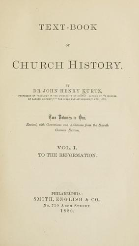 Text-book of church history.